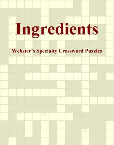 Ingredients - Webster's Specialty Crossword Puzzles EB9781114164338