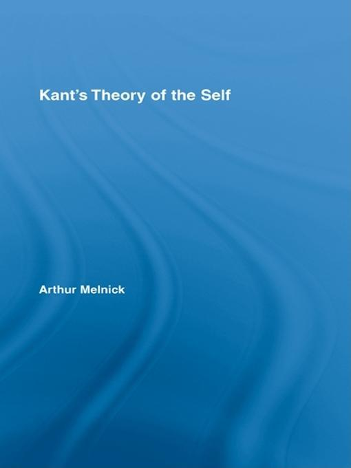 Kant's Theory of the Self EB9781135846459