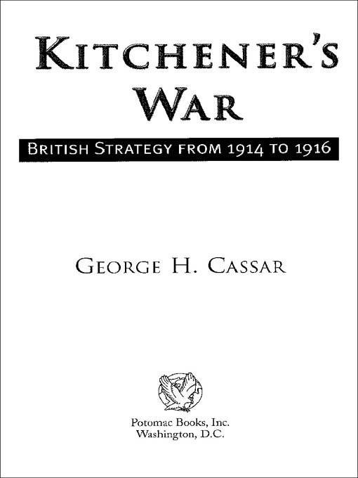 Kitchener's War EB9781612344454