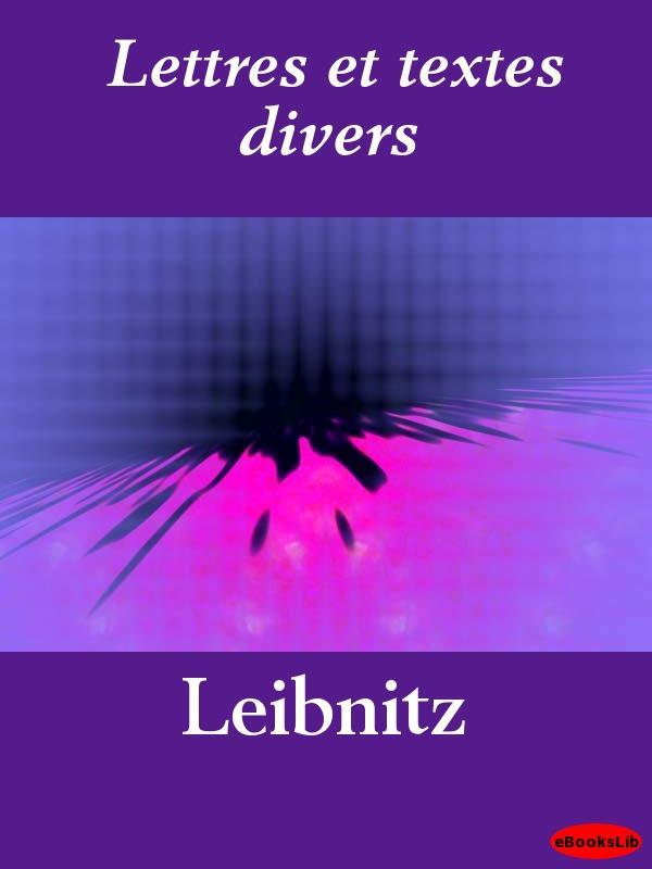 Lettres et textes divers EB9781412187060