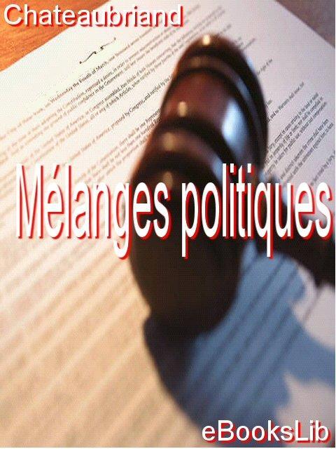 M?langes politiques EB9781412175326