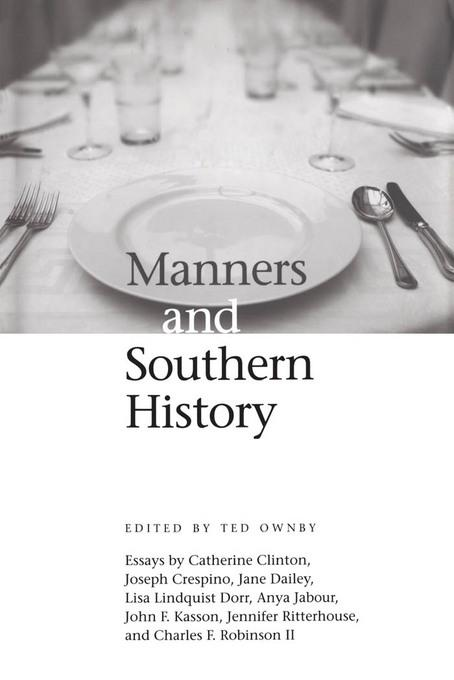 Manners and Southern History EB9781604736410