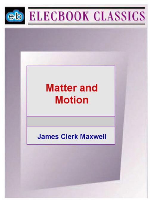 Matter and Motion EB9781843271161