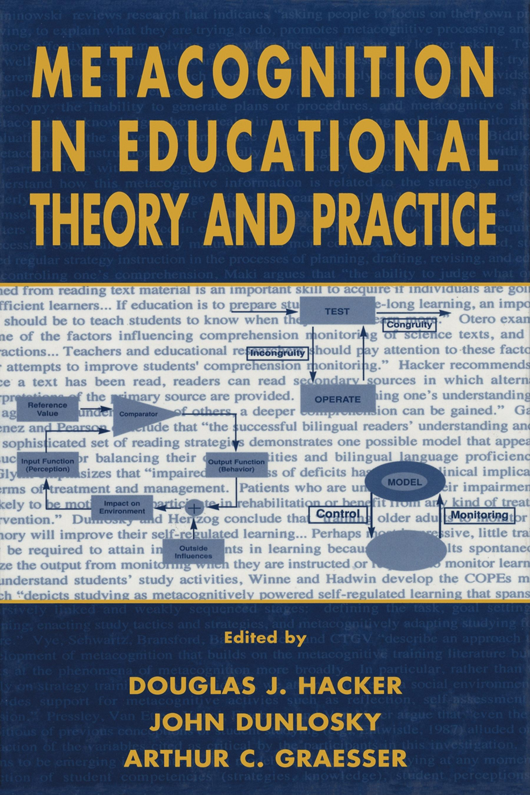 Metacognition in Educational Theory and Practice EB9781410602350