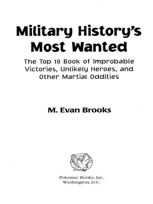 Military History's Most Wanted? EB9781597974608
