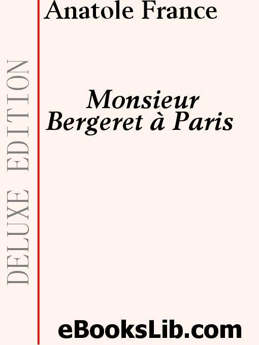 Monsieur Bergeret ? Paris EB9781554433889