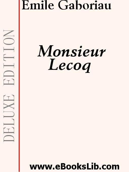 Monsieur LeCoq EB9781554430222