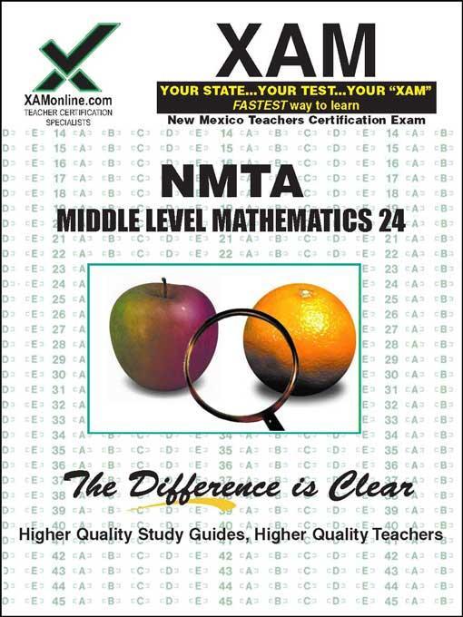 NMTA Middle Level Mathematics 24 EB9781607878766
