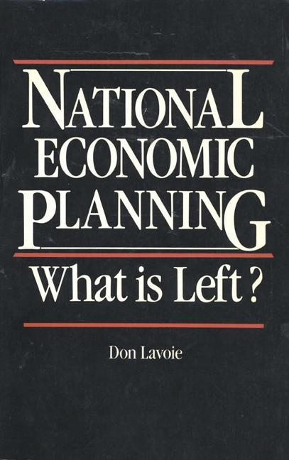 National Economic Planning: What is Left?