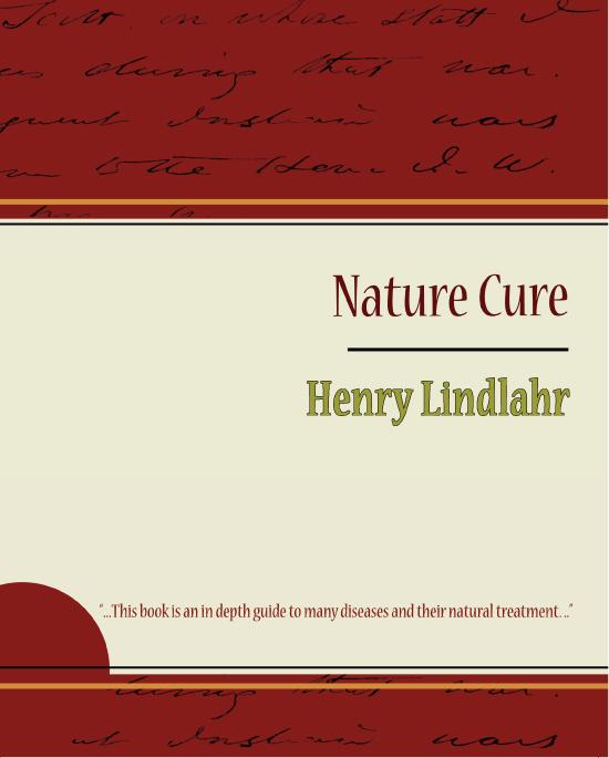 Nature Cure - Henry Lindlahr EB9781438558790