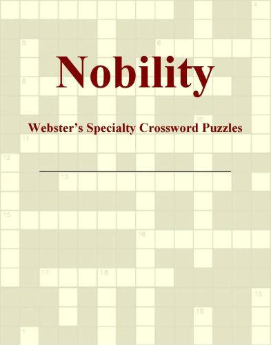 Nobility - Webster's Specialty Crossword Puzzles EB9781114165083
