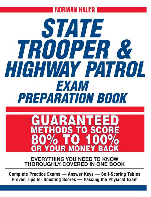 Norman Hall's State Trooper & Highway Patrol Exam Preparation Book EB9781440519741