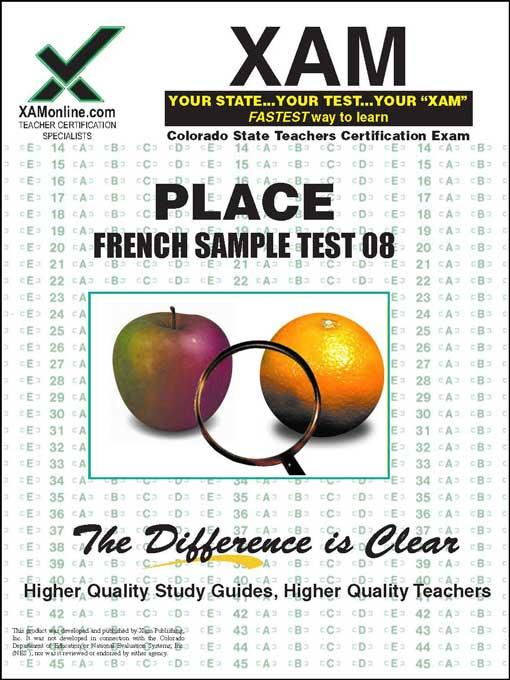 PLACE FRENCH SAMPLE TEST 08 EB9781607877400