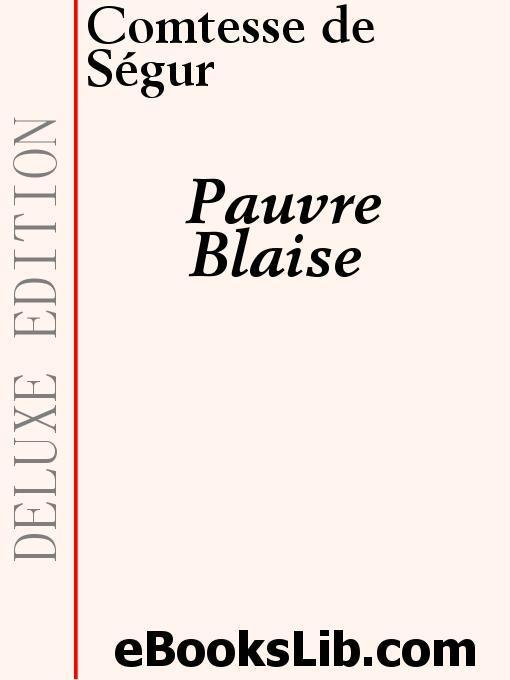 Pauvre Blaise EB9781412189354