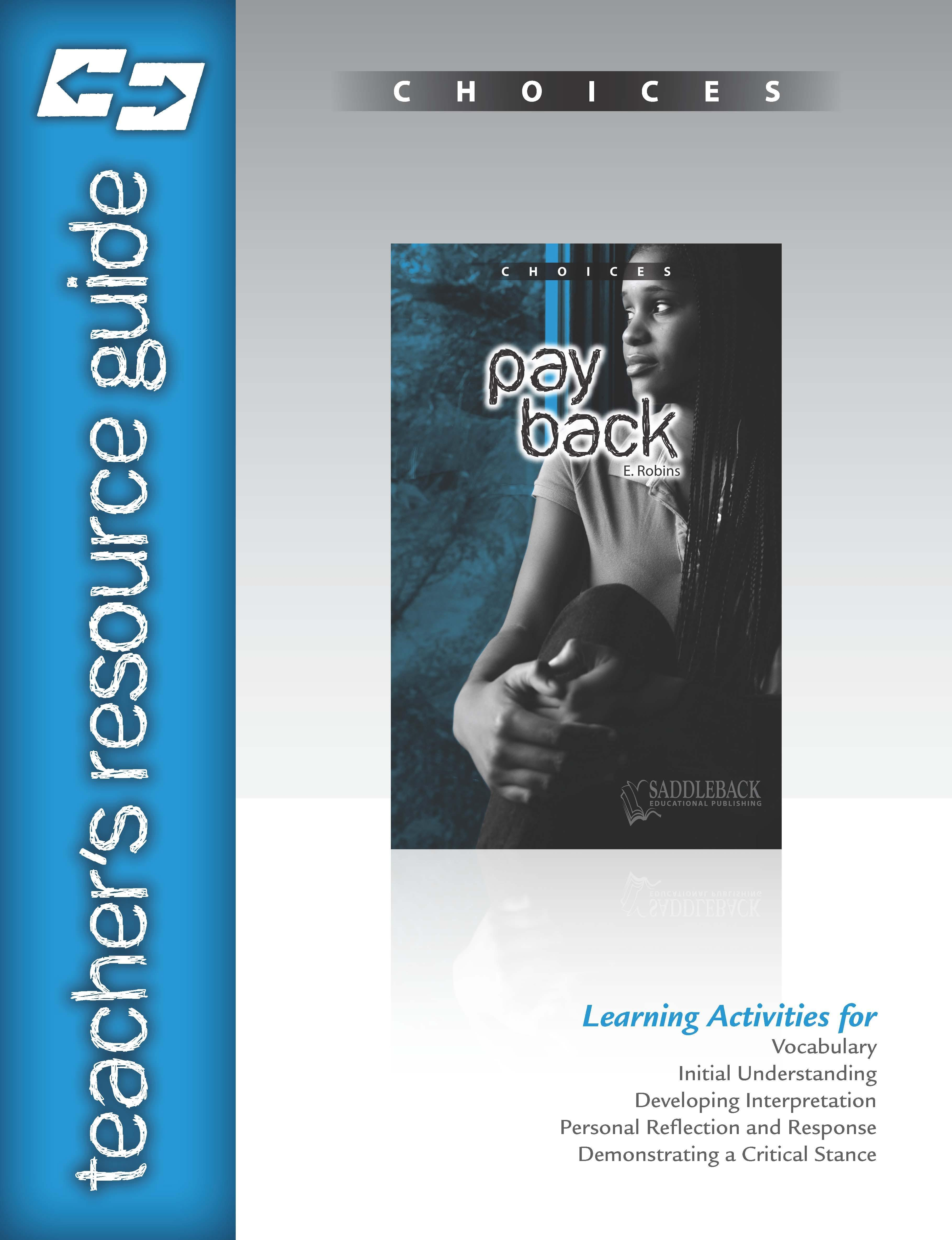 Pay Back Teacher Resource Guide EB9781612476179
