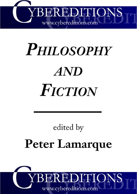 Philosophy and Fiction EB9781877275111