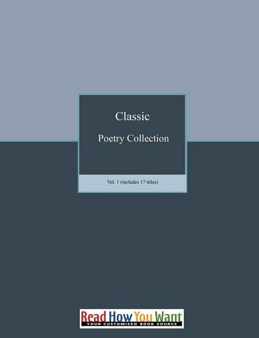 Poetry Collection Vol. 1 EB9781458795595