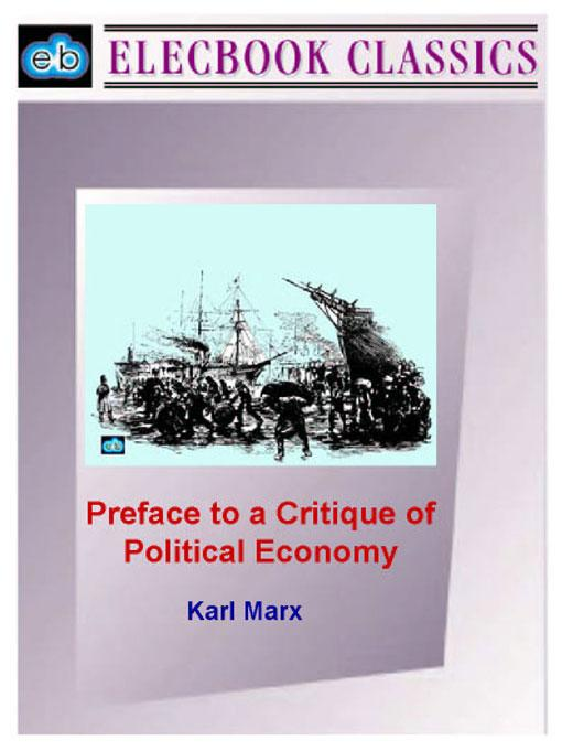 Preface to a Critique of Political Economy EB9781843271055