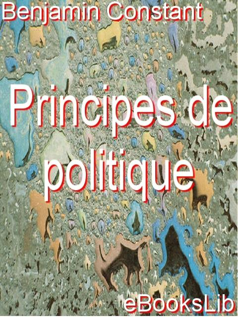 Principes de politique EB9781554494538