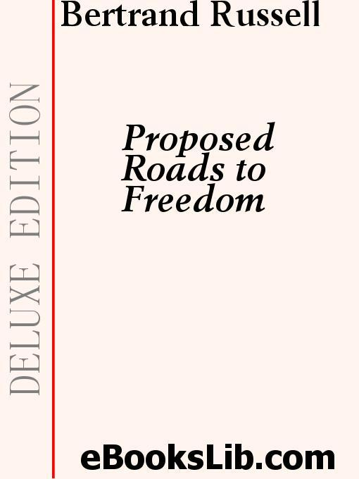 Proposed Roads to Freedom EB9781554452293