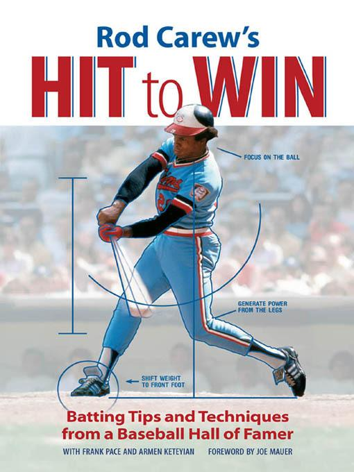 Rod Carew's Hit to Win: Batting Tips and Techniques from a Baseball Hall of Famer EB9781610585583