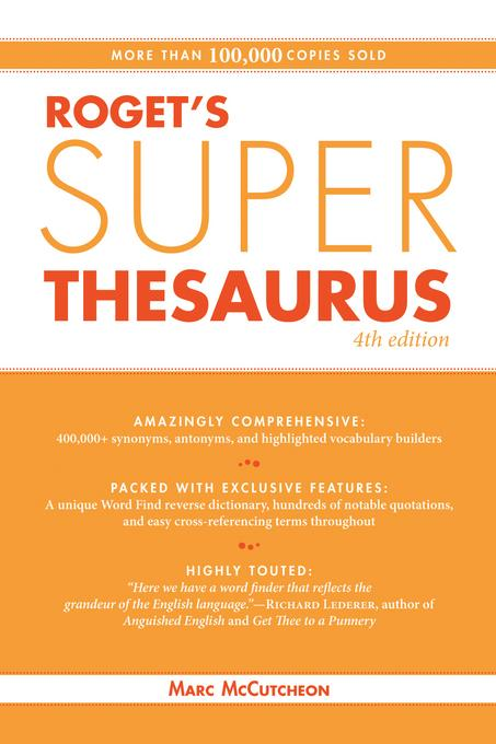Roget's Super Thesaurus EB9781599631837