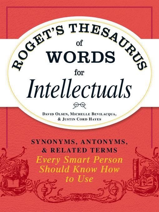Roget's Thesaurus of Words for Intellectuals EB9781440529771