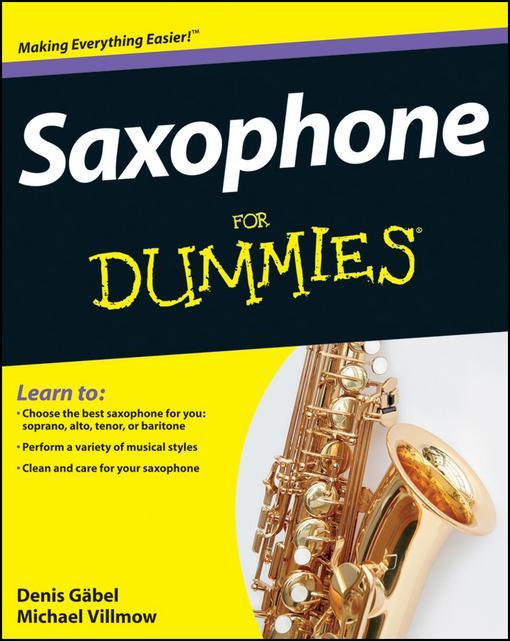 Saxophone For Dummies EB9781118089743