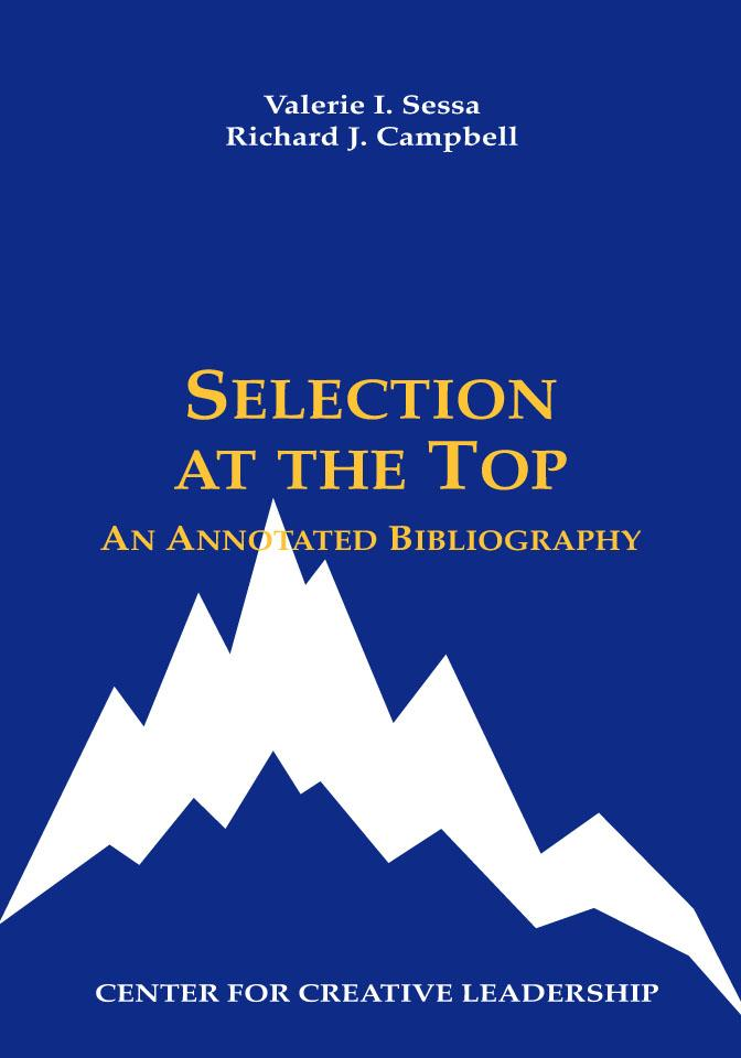 Selection at the Top: An Annotated Bibliography EB9781932973341