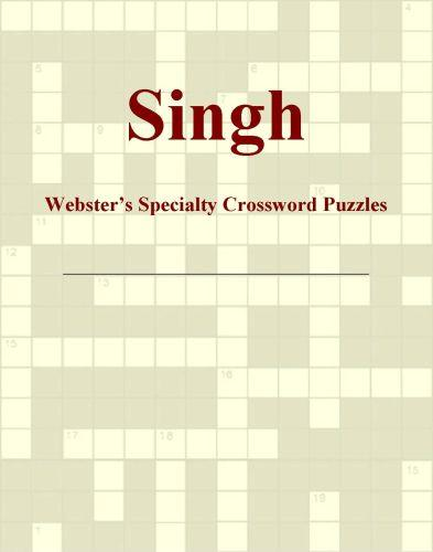 Singh - Webster's Specialty Crossword Puzzles EB9781114011571