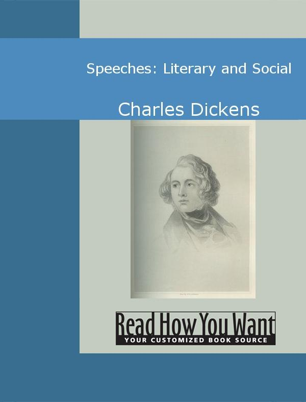 Speeches: Literary and Social EB9781442943209