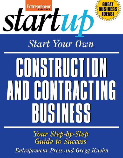 Start Your Own Construction and Contracting Business EB9781613080627