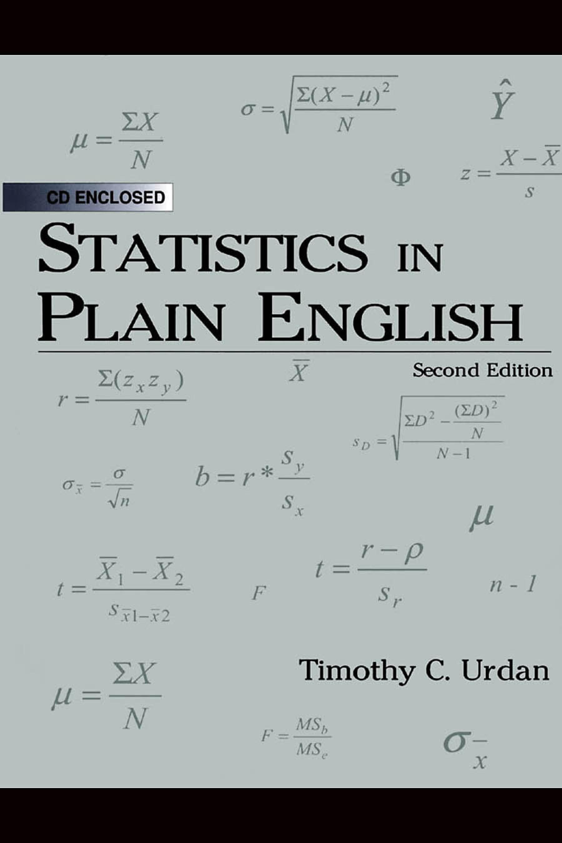 Statistics in Plain English EB9781410612496