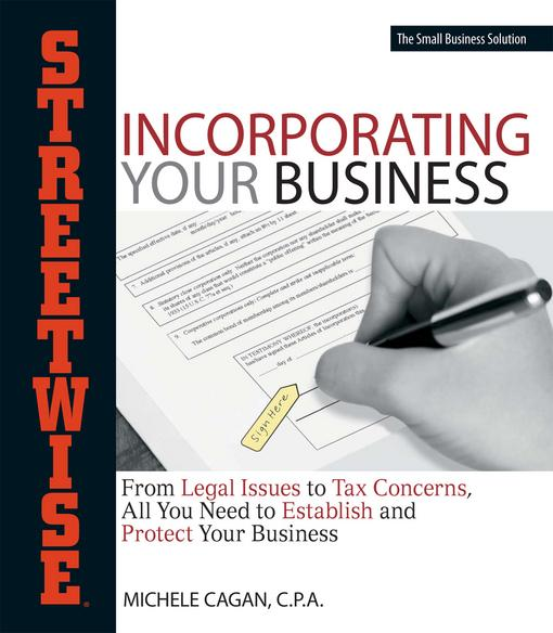 Streetwise Incorporating Your Business EB9781440516771