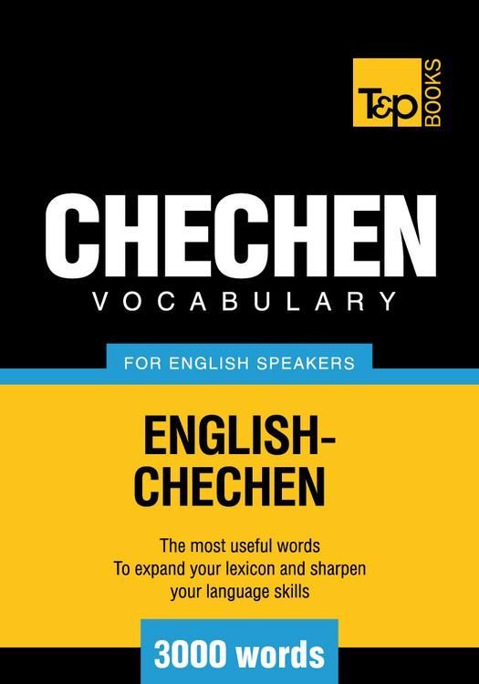 T&P English-Chechen vocabulary 3000 words