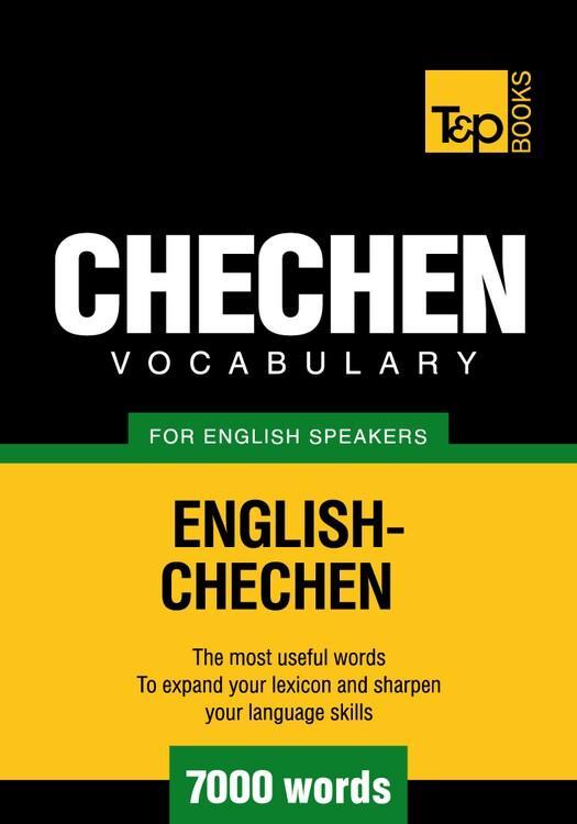 T&P English-Chechen vocabulary 7000 words EB9781780711430