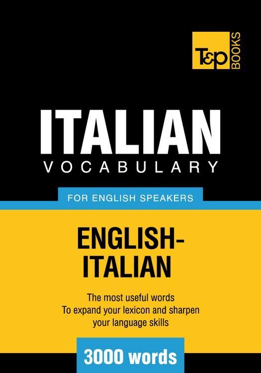 T&P English-Italian vocabulary 3000 words EB9781780711171