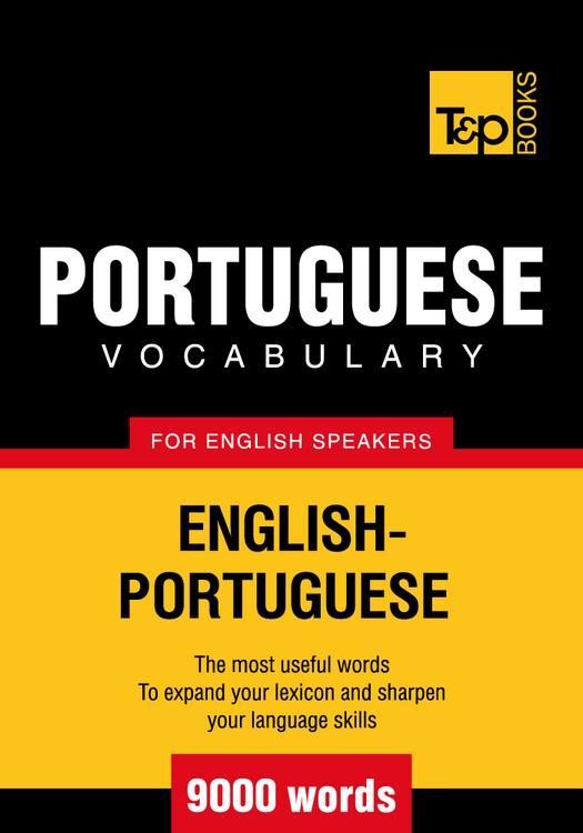 T&P English-Portuguese vocabulary 9000 words EB9781780712888