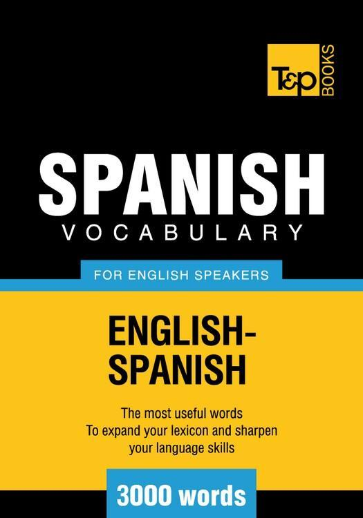 T&P English-Spanish vocabulary 3000 words