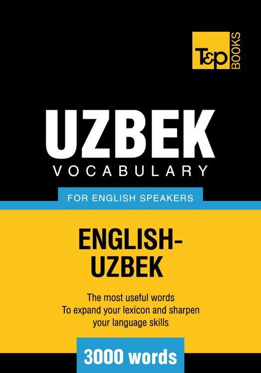 T&P English-Uzbek vocabulary 3000 words
