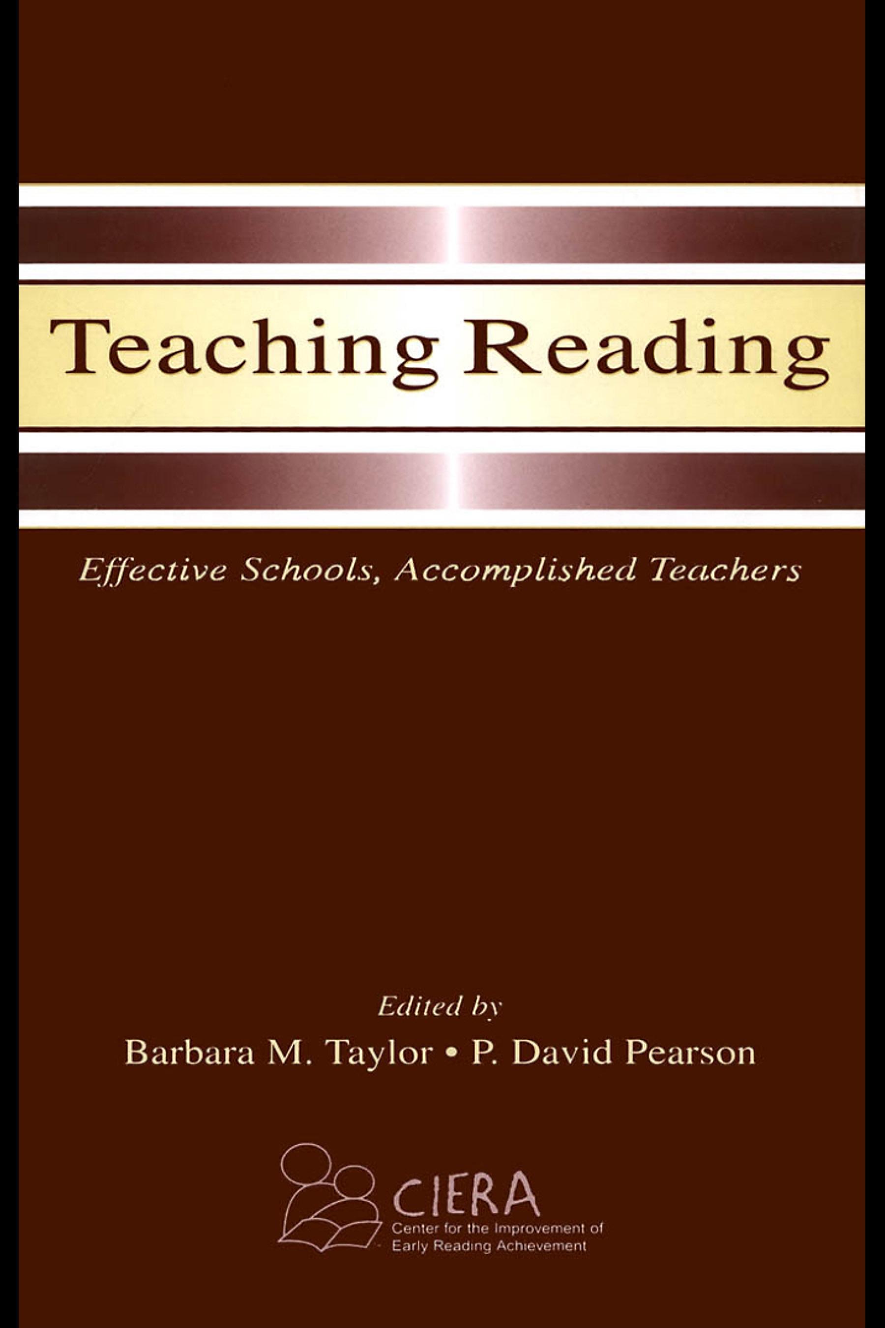 Teaching Reading: Effective Schools, Accomplished Teachers EB9781410612489