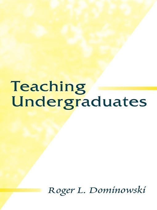 Teaching Undergraduates EB9781135677473