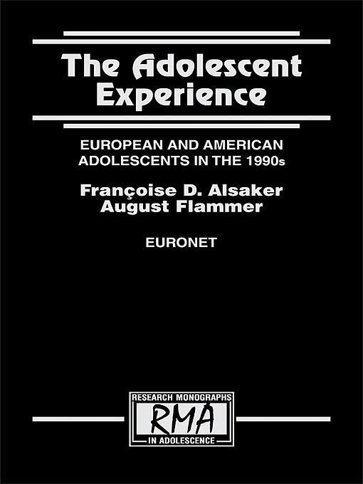 The Adolescent Experience EB9781135686086