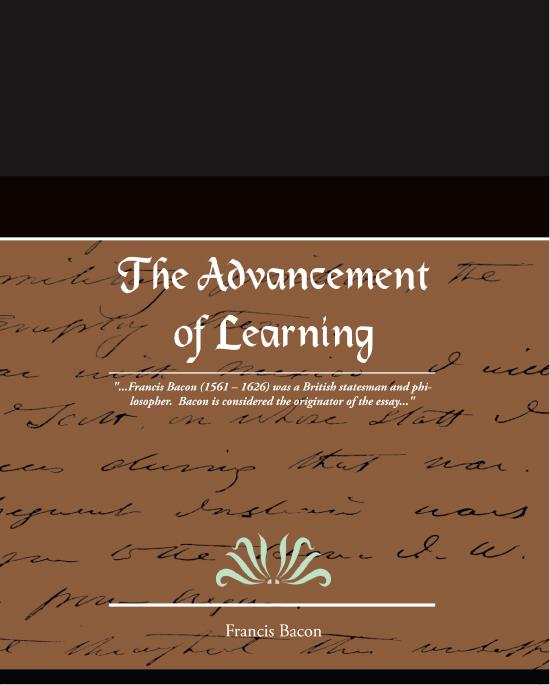 The Advancement of Learning EB9781438551289
