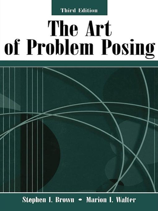 The Art of Problem Posing EB9781135612238