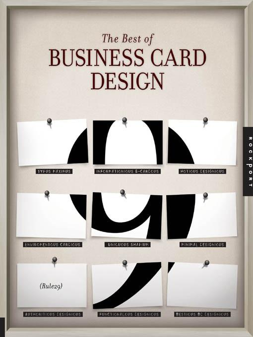 The Best of Business Card Design 9 EB9781616738938