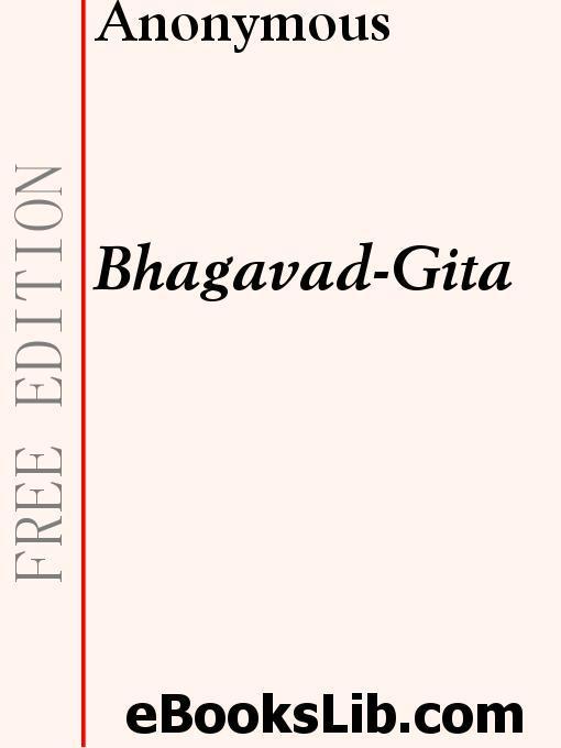 The Bhagavad-Gita EB9781554439775
