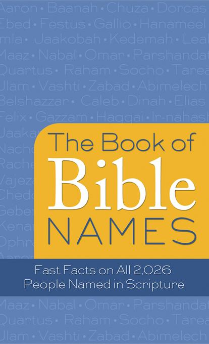 The Book of Bible Names EB9781607426288