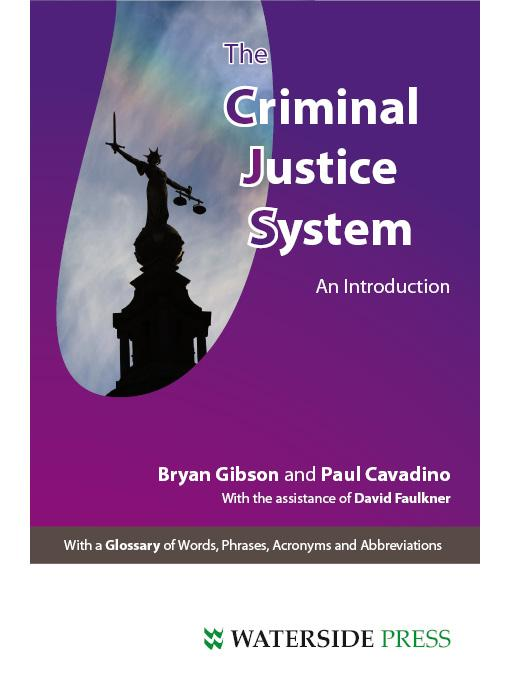 The Criminal Justice System: An Introduction EB9781906534707