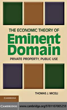 The Economic Theory of Eminent Domain EB9781139089319